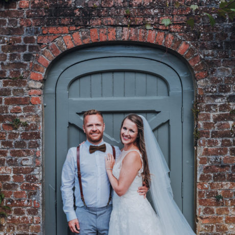 Sophie and her husband at Treliske Gardens Cornwall