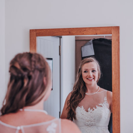Sophie, the bride to be getting ready at the amazing Alverton Hotel in Truro.